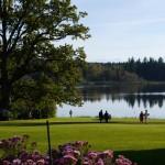 Traumhafter Blick über den Park von Gut Deixlfurt